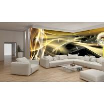 Fotobehang Vlies Design | Goud, Grijs | GROOT 832x254cm