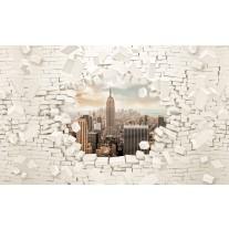 Fotobehang Papier Muur, Steden | Crème | 254x184cm