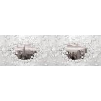 Fotobehang Vlies Muur, Steden | Grijs | GROOT 624x219cm