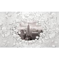 Fotobehang Papier Muur, Steden | Grijs | 368x254cm