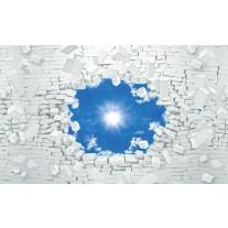 Fotobehang Papier Muur, Zon | Blauw | 368x254cm