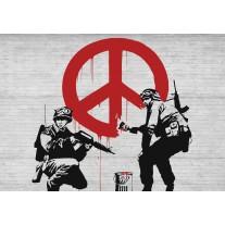 Fotobehang Papier Street Art | Rood | 254x184cm