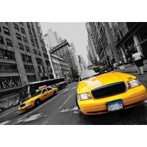 Fotobehang Papier New York | Geel | 254x184cm