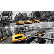 Fotobehang Papier New York | Geel, Grijs | 254x184cm
