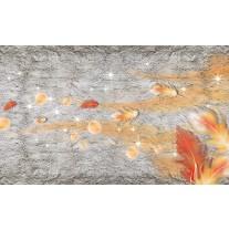 Fotobehang Papier Muur, Modern | Oranje | 254x184cm