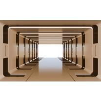 Fotobehang Papier 3D, Design | Bruin | 254x184cm