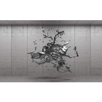 Fotobehang 3D, Design | Grijs, Zilver | 152,5x104cm