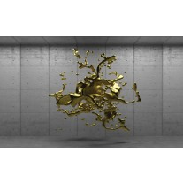 Fotobehang Papier 3D, Design | Goud | 254x184cm