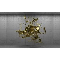Fotobehang Papier 3D, Design | Goud | 368x254cm
