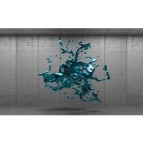 Fotobehang Papier 3D, Design | Turquoise | 254x184cm