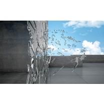Fotobehang Papier Design, Abstract   Grijs   254x184cm