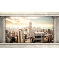 Fotobehang Papier Skyline, Modern | Crème | 254x184cm