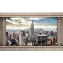 Fotobehang Papier Skyline, Modern | Crème, Grijs | 368x254cm