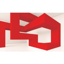 Fotobehang Papier 3D, Design | Rood | 254x184cm