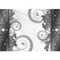 Fotobehang Papier Modern | Grijs, Wit | 254x184cm