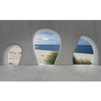 Fotobehang Papier Strand, Muur | Grijs | 254x184cm