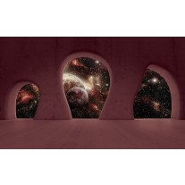 Fotobehang Papier Nacht, Muur | Bruin | 254x184cm