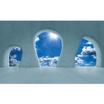 Fotobehang Muur, Lucht | Blauw | 152,5x104cm