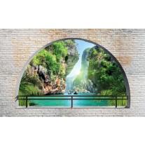 Fotobehang Papier Natuur, Muur | Groen | 254x184cm