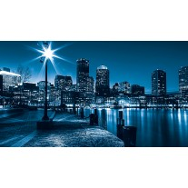 Fotobehang Papier Steden, Skyline | Blauw | 254x184cm