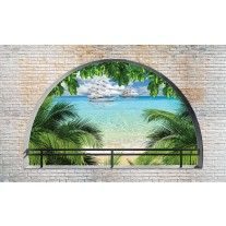 Fotobehang Papier Natuur, Strand | Groen, Blauw | 368x254cm