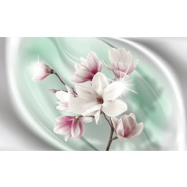 Fotobehang Papier Bloemen, Magnolia | Roze | 368x254cm