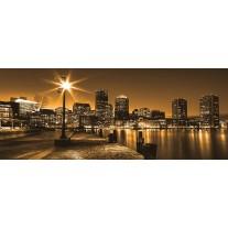 Fotobehang Skyline | Geel, Bruin | 250x104cm