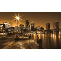 Fotobehang Papier Skyline | Geel, Bruin | 368x254cm