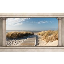 Fotobehang Papier Strand, Zee | Crème | 368x254cm