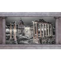Fotobehang Papier Steden, Muur | Grijs | 368x254cm