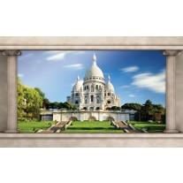 Fotobehang Papier Frankrijk, Parijs | Blauw | 254x184cm