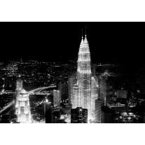 Fotobehang Skyline | Zwart, Wit | 208x146cm