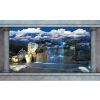 Fotobehang Papier Waterval, Natuur | Blauw | 368x254cm