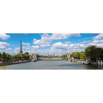 Fotobehang Vlies Parijs, Fankrijk | Blauw | GROOT 624x219cm