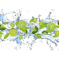 Fotobehang Papier Keuken, Fruit | Groen | 254x184cm