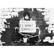 Fotobehang Papier Street Art | Zwart, Wit | 254x184cm