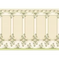 Fotobehang Papier Klassiek | Groen, Crème | 254x184cm