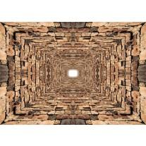 Fotobehang Papier 3D, Modern | Bruin | 368x254cm