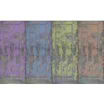 Fotobehang Papier Landelijk | Blauw, Paars | 368x254cm