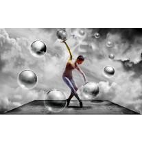 Fotobehang Papier 3D, Dansen | Grijs | 368x254cm