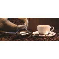 Fotobehang Koffie, Keuken | Bruin | 250x104cm