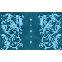 Fotobehang Papier Klassiek | Turquoise, Blauw | 254x184cm