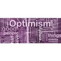 Fotobehang Tekst, Optimisme | Paars | 250x104cm