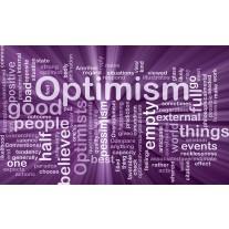 Fotobehang Tekst, Optimisme | Paars | 152,5x104cm