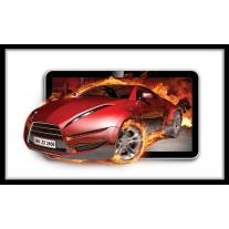 Fotobehang Papier Auto, Vuur | Rood | 254x184cm