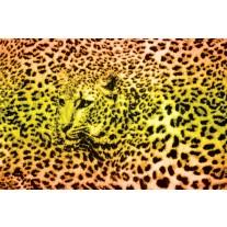 Fotobehang Papier Luipaard | Geel, Groen | 254x184cm