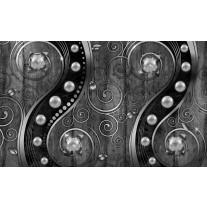 Fotobehang Papier Modern | Zilver, Zwart | 254x184cm