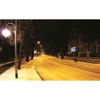 Fotobehang Papier Straat | Geel, Zwart | 254x184cm