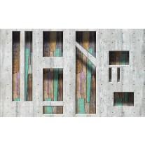 Fotobehang Papier Modern, Hout | Grijs | 254x184cm