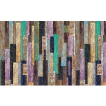 Fotobehang Papier Hout, Landelijk | Groen, Paars | 254x184cm